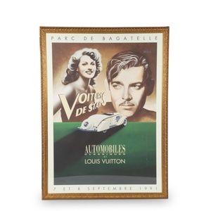 Louis Vuitton GIANT Vintage Lithograph Clark Gable